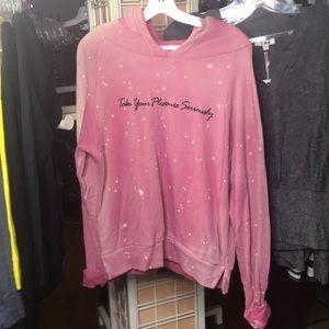 LNA Tops - LNA pink take your pleasure seriously hoodie